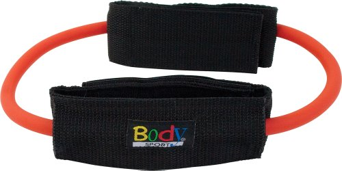 Body Sport Heavy Resistance Loop Tubing with Ankle Cuffs, Re