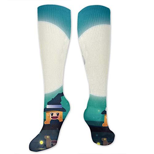 Stretch Socks Halloween Castle Custom Personalized Winter Warmth for Women & Men Travel]()