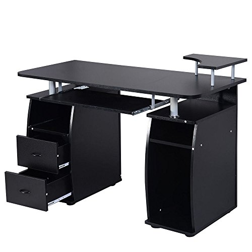 Computer Desk PC Table Work Office Home with Monitor Printer Shelf Furniture By Allgoodsdelight365