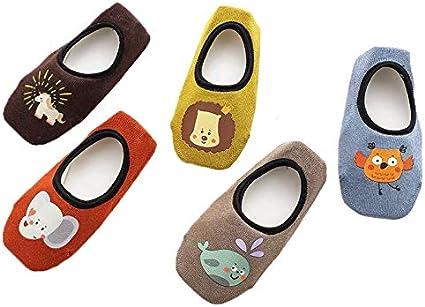 Pack de 5 Pares Calcetines Invisibles para Beb/é Ni/ños 6-8 A/ños Set 1 Antideslizante Ceguimos