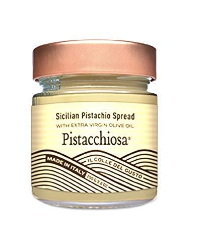Il Colle Del Gusto Sicilian Pistachios Spread with Extra Virgin Olive Oil, Pistacchiosa, 8.1 Ounce ()