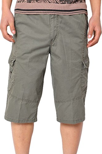 Heheja Hombres Cargo Bermuda Cortos Pantalones Vintage Shorts Casual Ejercito Verde