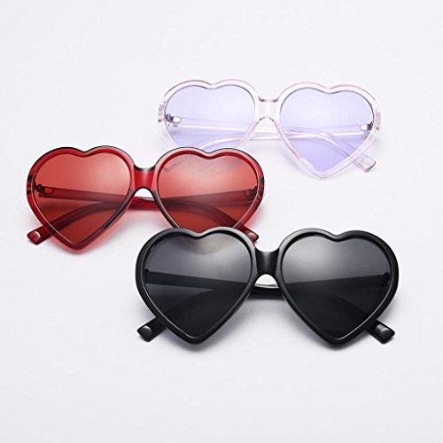 Forman Mujeres AIMEE7 Forma Integradas Rojo De De Las De Sol En Gafas Gafas Las De Sol Corazón Gafas RqFUwqgx