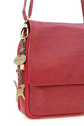 Sac besace Catwalk signé cuir Rouge en Collection type