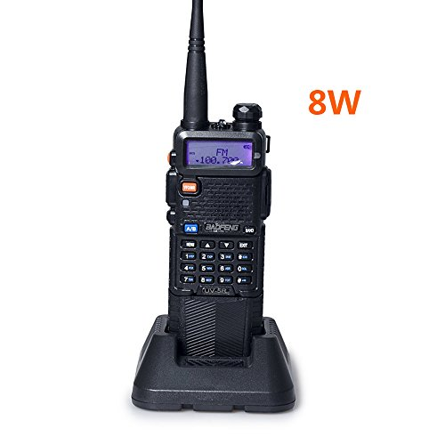 Power 8/4/1W 3800mAh Two Way Radio Dual Band Ham Radio Transceiver(Black) ()