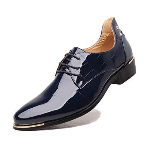 Scarpe Uomo Scarpe Formali Business Oxford Pelle Sposa Scarpe per Maschio in Il da Blu qCdC7P