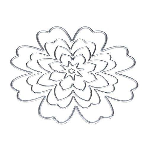 Metal Cutting Dies Stencils JUNKE Flower and Heart Shape DIY Scrapbooking Album Paper Card Craft - Online In Shape Heart Photo Cut
