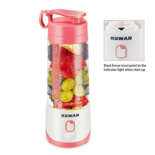 KUWAN Mini Electric Fruit Juicer Rechargeable portable Blender with USB Charging Cable install safety protection program by KUWAN (Image #2)