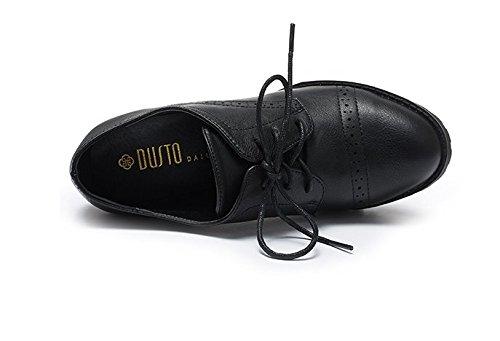 PUMPS Damen High Heels,Dick mit Tiefen Spitzen Schuhe-A Fußlänge=24.3CM(9.6Inch)