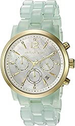 Michael Kors Women's MK6311 Audrina Gold-Tone Crystal-Accented Watch with Resin Band