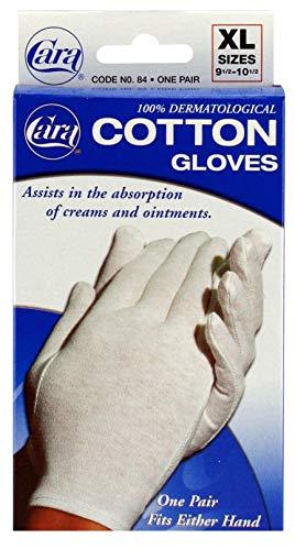 (CARA Moisturizing Eczema Cotton Gloves, Extra Large, 1 Pair)