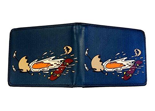 Price comparison product image Egg Skate Funny Chicken Shattered Yoke Skateboard Fall Bi-fold Wallet