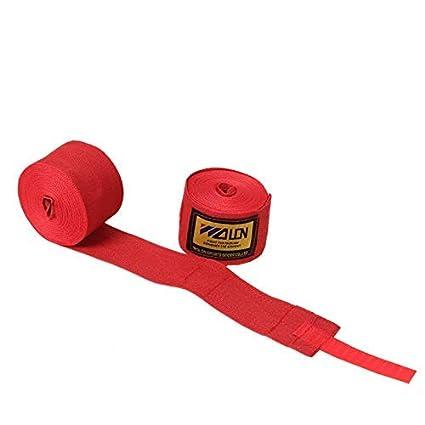 Kickboxing Vendas semiel/ásticas con Cierre de Velcro Extra Ancho Muay Thai 5 m x 5 cm MMA para Boxeo tailand/és Bravoy Vendas de Boxeo trabilla para el Pulgar Vendas para Deportes de Lucha