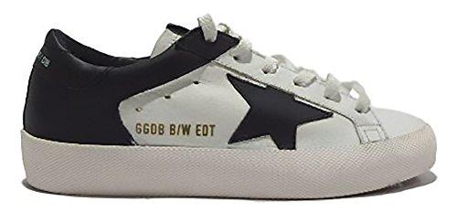 golden goose - Zapatillas de Piel para mujer blanco Blanco y negro