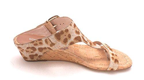 Tilfeldige Åpen sg Tan T Li4 Sommer Skinn strap Sand Pliner Kvinners Tå J Leopard Donald Sandaler 4x8wTqAw