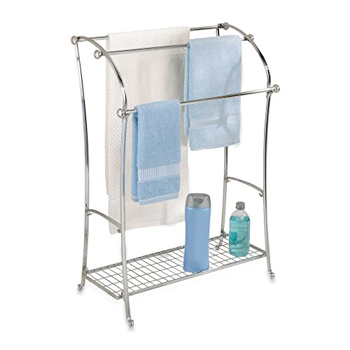 InterDesign® York Lyra Split Finish 3-Rod Free Standing Towel Stand in Chrome (Stand Mixer Towel compare prices)