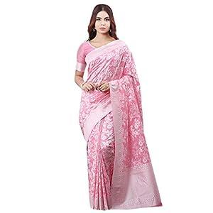 Glory Sarees Women's Banarasi Artificial Silk Saree With Blouse Piece