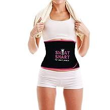 Sweat Smart EXERCISE SWEET & SWEAT WAIST TRIMMER Premium Weight Loss Waist Trimmer Belt Slim Body Sweat Wrap SWEAT SMART ELITE SERIES - PINK