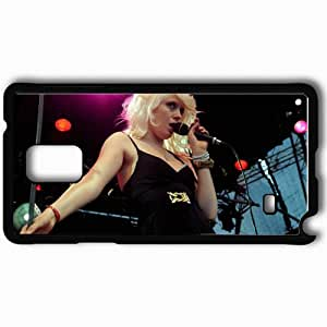 Personalized Samsung Note 4 Cell phone Case/Cover Skin Amanda Jenssen Girl Blonde Microphone Scene Black