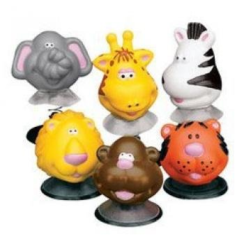 12 Zoo Animal Pop Toys