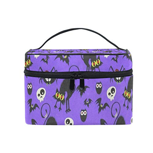 All agree Cosmetic Bag Halloween Seamless Womens Makeup Organizer Girls Toiletry Case Box Lazy Zip Bag]()