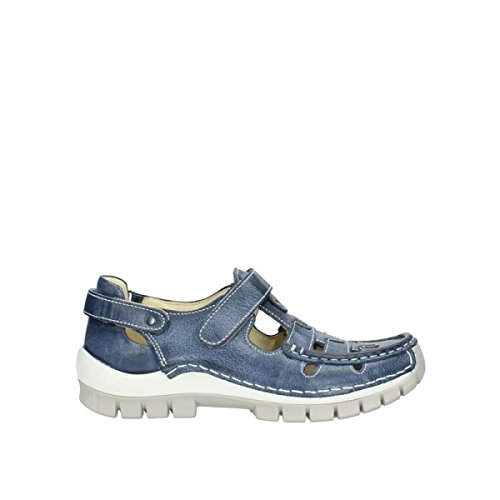 Wolky Comfort Mary Janes Noble 30870 Blue Summer Leather MBFMUMN