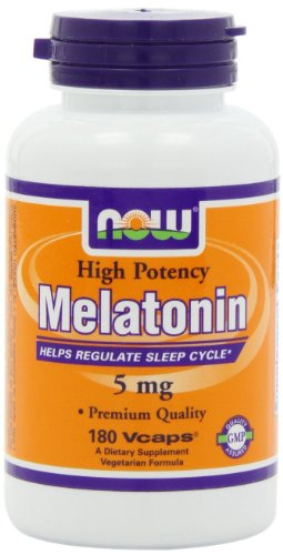 Now Foods, Melatonin, High Potency, 5 mg, 180 Vcaps