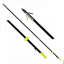 Safari Choice Bowfishing Arrows with Broadheads Pack (3 Piece), 35""