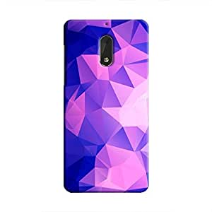 Cover It Up - Dark Purple Pixel Triangles Nokia 6 Hard Case