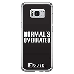 Samsung S8 Plus Transparent Edge Case House Normal Is Overrated -Multicolor