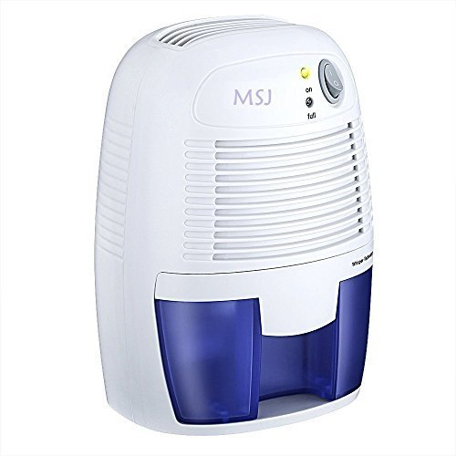MSJ Portable Dehumidifier with 250ml/day Dehumidification 500ml Water Tank Air Dehumidifier Compact Moisture Absorber for Home Closet Basements Kitchen Office