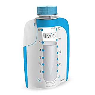 Kiinde Twist Pouch Direct-Pump Direct-Feed Twist Cap Breast Milk Storage Bags for Pumping, Freezing, Heating and Feeding, Pre-Sterilized, 6 Ounce and 8 Ounce