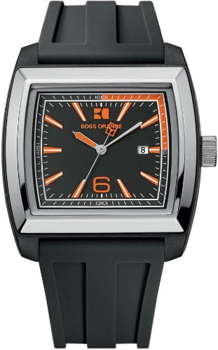 Hugo Boss Black Dial Black Rubber Mens Watch 1512601