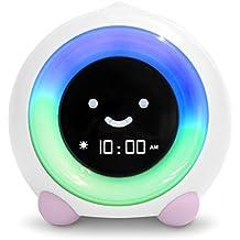 MELLA Ready to Rise Children's Sleep Trainer, Alarm Clock, Night Light and Sleep Sounds Machine (Blush Pink)