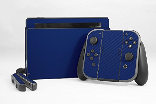Cheap Nintendo Switch Skin – NEW – 3D CARBON FIBER NAVY BLUE – Air Release vinyl decal console mod kit by System Skins