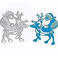 Scrapbooking dies de decoupe, Oyedens Metal Cutting Dies Scrapbooking Bricolage Album de Noël de Bricolage Découpage Carré Stencils Embossing Card Album de Scrapbooking (D)