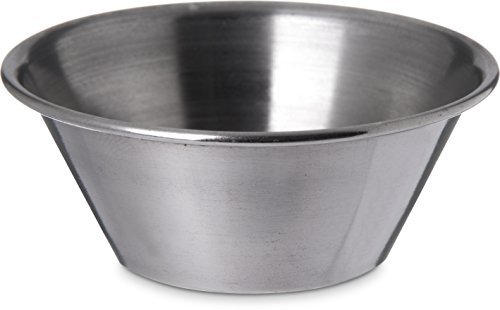 Carlisle 602400 Stainless Steel Ramekin / Sauce Cup, 1.5 oz (Case of 144) by Carlisle