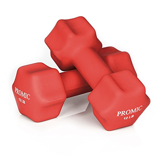 PROMIC Weights Dumbbells Non Slip Exercise