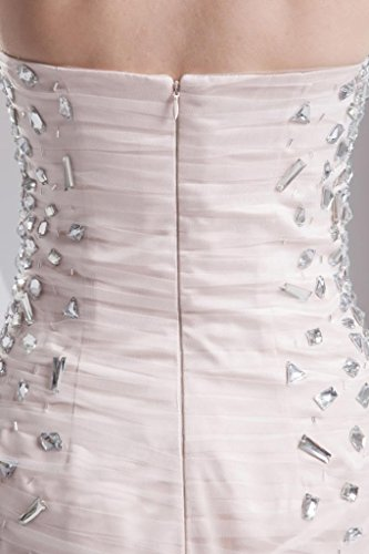 Traegerlos mit Kristallperlen Perle duenne GEORGE Kleid BRIDE ROSA kurze ZwHfA5q