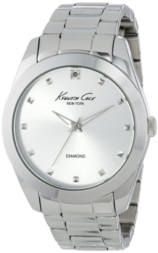 Kenneth Cole New York Women's KC4947 Rock Out Silver Dial Diamond Dial Bracelet Watch