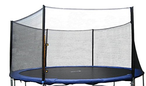ExacMe 15' FT Trampoline Replacement Outer Enclosure Net 6 Poles N015(Trampoline sold separately) by Exacme