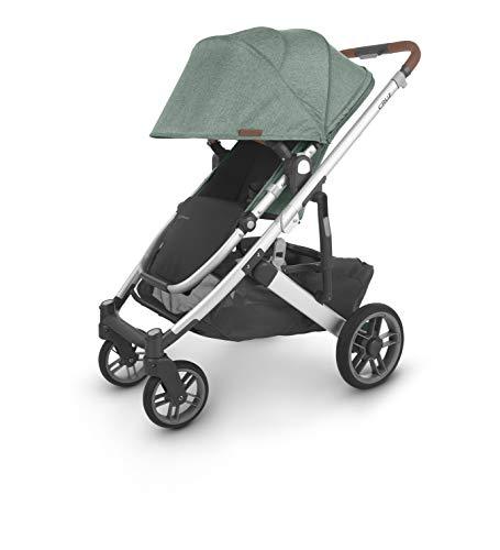 41peeQ0eXJL - UPPAbaby Cruz V2 Stroller - Emmett (Green Melange/Silver/Saddle Leather)