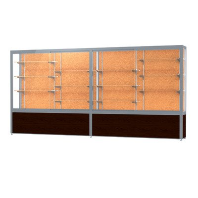 """Waddell Challenger Series Tower Trophy Display Case Frame Finish: Satin, Size: 66"""" H x 144"""" W, Backing: Cork"""