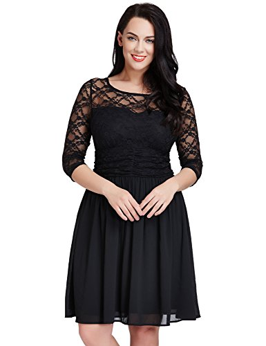 LookbookStore Womens Chiffon Skater Formal