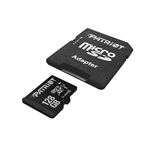Patriot LX Series 128GB High Speed Micro SDXC Class 10 UHS-I Transfer Speeds for Action Cameras, Phones, Tablets, and PCs