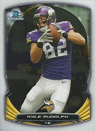 on sale 5be14 5157a Amazon.com: 2014 Bowman Chrome #72 Kyle Rudolph Vikings NFL ...