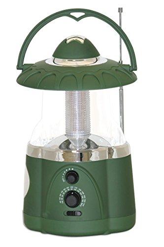 Multifunctional Radio Lantern and Emergency Flashlight, Battery Operated, 12 Bright Lantern LEDs and 4 Bright Flashlight LEDs, Hurricane Lantern by Northpoint