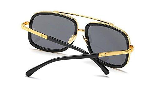 de retro rond métallique Lennon en du polarisées style vintage Pièce inspirées cercle Grise lunettes soleil Y7P8adY
