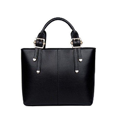 All Match And New Fashion Woman Girl Bag Clutches Cross-body Bag Tote Bag Satchels Pu Leather Bag (black)