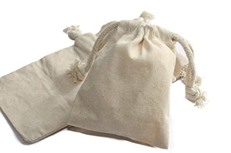 Amazon.com: nakpunar Cordón de algodón muselina bolsas ...